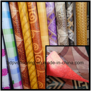 Popular Selling Shining Surface Felt Backing Non-Woven PVC Flooring Carpet pictures & photos
