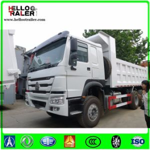 Left Hand Driving Steel Tire 336HP Tipper Dump Truck with Parabolic Leaf Spring pictures & photos
