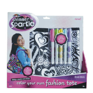 Fashion Tote Bag with Markers, DIY Drawing Bag (SF-2031)