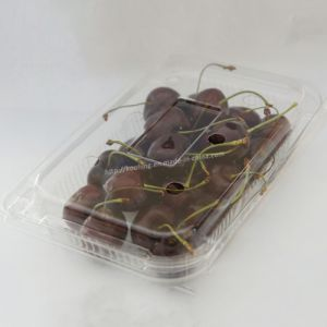 Transparent Plastic Pet Vegetable and Fruit Supermarket Packaging Box (KH-007YL) pictures & photos