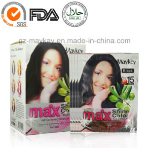 Maykey Hair Darkening Shampoo-Black pictures & photos