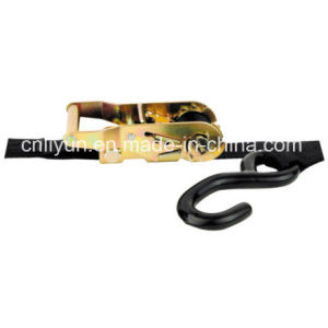 1′′ Ratchet Strap / Ratchet Tie Down / Cargo Safety Strap with S Hook, Wll1000lb. /454kg