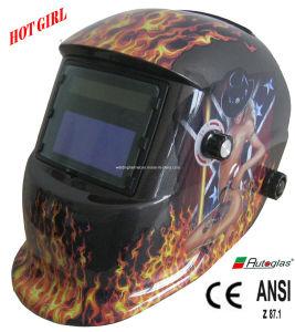 Replaceable Battery/Big Size/En379/ANSI Welding Helmet (E1190TC) pictures & photos