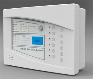 CE Approved 4 Zones 2 Wire Fire Alarm System with TFT Display