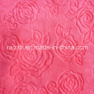 Cut Flowers Coral Fleece Fabrics for Home Textile pictures & photos
