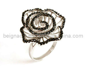 Fashion Silver Flower Jewelry Ring