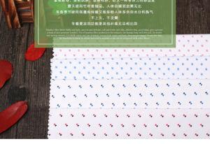 Bamboo Fiber Shirt Fabric with DOT Printed pictures & photos