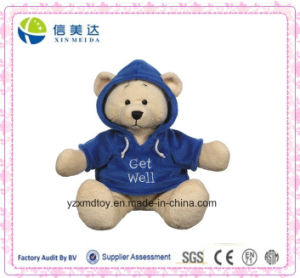Get Well Hoodie Teddy Bear Plush Toy (XDT-031S) pictures & photos