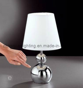 Metal Touch Table Light with Fabric Shade (T162)