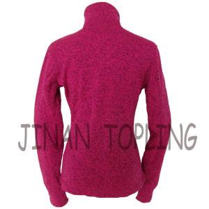 Women Fashion Long Sleeve Bicolour Softshell Micro Fleece Jacket pictures & photos