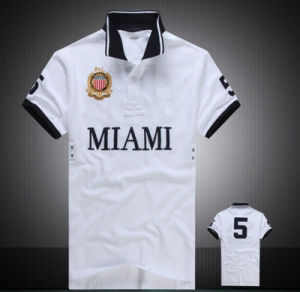 Personal Logo High Quality Pique 100% Cotton Embroidered Men′s Polo Shirt pictures & photos