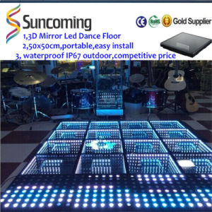 Party, DJ Lighting 3D Mirror Time Tunnel LED Dance Floor pictures & photos