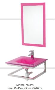 Tempered Glass Basin Sinks with Mirror pictures & photos