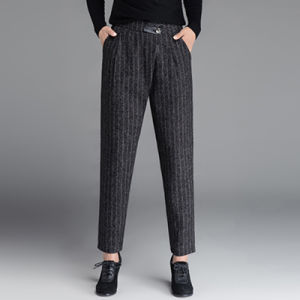 New Design Contrast Stripes Fashion Tapered Lady Office Pants pictures & photos