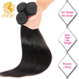 7A Peruvian Virgin Hair with Closure, Peruvian Straight Human Hair with Closure, 13X4 Ear to Ear Lace Frontal Closure with Bundles pictures & photos