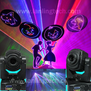 Animated Laser Moving Head Light Projector (LH125RGB) pictures & photos