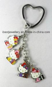 Glitter Epoxy Hello Kitty Key Chain