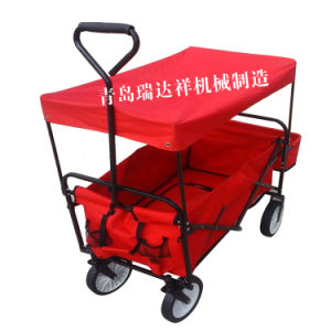Red Popular Kid Sack Folding Transportation Wagon Cart Fw3016 pictures & photos