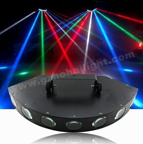 DMX LED RGBW Eight Lens Beam Effect Light