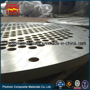 Bimetallic Explosion Weld Clad Tubesheet for Heat Exchanger in Petrochemical Industry pictures & photos