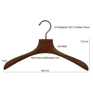 Brown Luxury Wooden Clothes Hanger pictures & photos