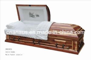 American Style Cedar Veneer Wood Casket (V9050033) pictures & photos