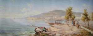 Oil Painting Reproduction of Seashore pictures & photos