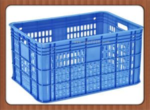 Customized Durable Plastic Turnover Vegetable Baskets for Storage pictures & photos