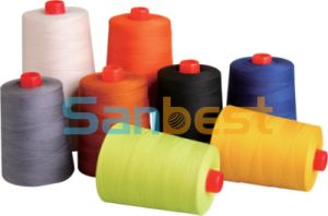 100% Spun Fire-Retardant Sewing Thread with High Quality pictures & photos