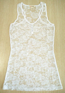 Fashion Clothing Underwear Sexy Rose Lace Women Vest Tank Top pictures & photos
