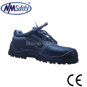 Nmsafety Low Cut Cow Split Leather Factory Safety Shoes pictures & photos
