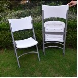 Plastic Stackable Chair with Steel Frame pictures & photos