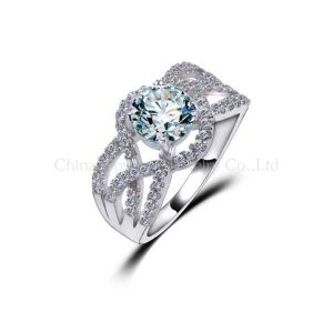 2014 Elegant Atmosphere Wax Micro Setting Diamond Ring