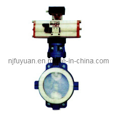 FEP Lined Butterfly Valve D671 pictures & photos