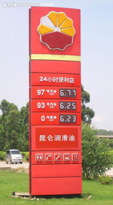 High Quality Outdoor Poster Display Gas Station Scrolling Light Box pictures & photos