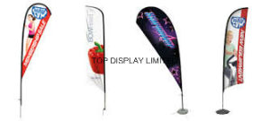 2.8m 3.6m 4.5m5.4m Birthday Party Digital Printing Teardrop Flag/Flying Banner pictures & photos
