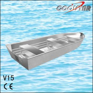 Popular V Bow Aluminium Jon Boat for Fishing (V15) pictures & photos