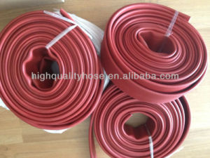 High Pressure Durable Rubber Layfllat Hose Rubber Fire Hose pictures & photos