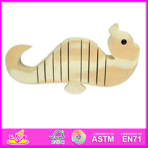 2015 New Painting Kids Wooden DIY Toy, DIY Hippocampal Style Children Wooden DIY Toy, Educational Baby Wooden DIY Toy W03A018 pictures & photos