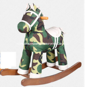 Baby Toy Wooden Rocking Horse-Camouflage Horse Rocker pictures & photos
