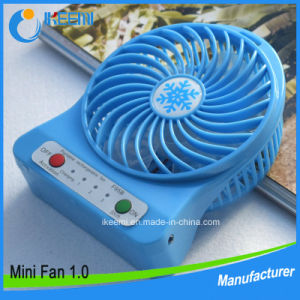 3.7V 18650 Lithium Battery Mini Electric Hand Fan with LED Light pictures & photos
