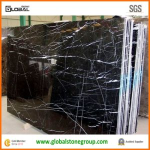 "China Black Stone for Full Height and 4"" Marble Backsplash"