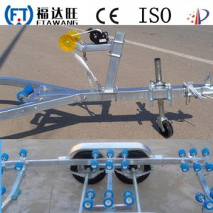 High Quality Single Axle Motor Boat Trailer with Roller pictures & photos