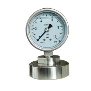 2.5 Inch Diameter Ss316L Threaded Connection Diaphragm Pressure Gauge Dn 25 pictures & photos