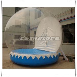 Transparent Inflatable Snow Globe Human Snowglobe with Blank Backdrop pictures & photos