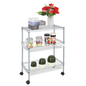 Adjustable Removable Chrome Metal Wire Basket Shelving Rack pictures & photos