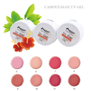 Professional Use Nail Art 15g One Step Soak off UV Gel French Pink Gel Camouflage Colour