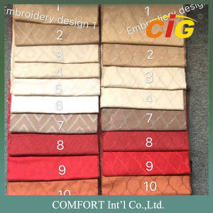 130 GSM Weight 150cm Width Plain Embroidery Dots Surface Faux Suede Fabric pictures & photos