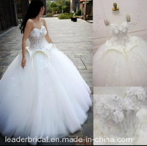 Floral Bridal Ball Gowns Beading Backless Wedding Dress 2018 Tb209 pictures & photos