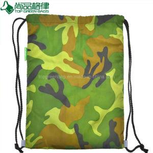 Custom 600d School Bag Sport Camouflage Drawstring Backpack Bag pictures & photos